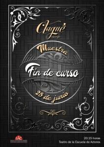 CARTEL FIN CURSO CLAQUÉ