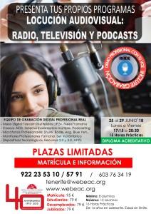 CARTEL - TALLER RADIO ADULTOS semana 25 junio al 29 junio 2018