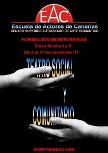 Cartel Teatro social y comunitario web
