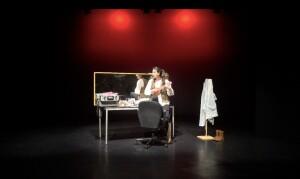 """Esta otra foto es de la grabación del monólogo """"BAJO EL MAQUILLAJE"""" texto de Judit y Sara Molina, interpretado por la alumna Judit Molina del grupo FARÁNDULA y dirigido por Baltasar Isla."""
