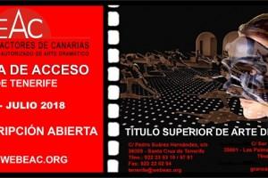 Flyer CABECERA Preinscripción Prueba de acceso 18 TFE
