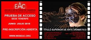 Flyer Preinscripción Prueba de acceso 18 TFE