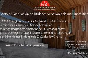 INVITACIÓN ORLA PROMOCIÓN 2016 2020 CASAD EAC SEDE TENERIFE CABECERA