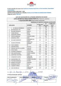 Listas Definitivas Resultados Pruebas de Acceso Junio 18 EAC Sede TFE-1