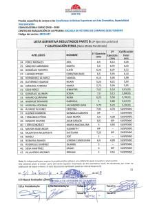 Listas Definitivas Resultados Pruebas de Acceso Junio 18 EAC Sede TFE-2