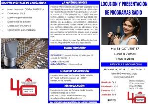 Locucion y presentacion en radio tríptico CARA A (1)