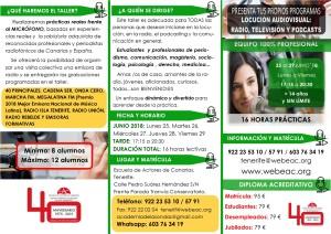 TALLER RADIO ADULTOS semana 25 junio al 29 junio - VERSIÓN CORRECTA - cara A