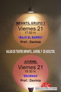 Teatro infantil y juvenil Actividades Junio INDIVIDUAL 4 PEQ