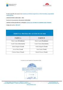Tribunal P. Acceso Julio 2020 CASAD EAC SEDE TFE