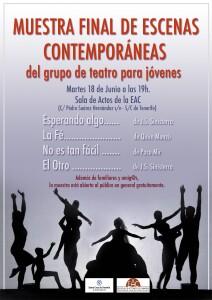 cartel muestra teatro web